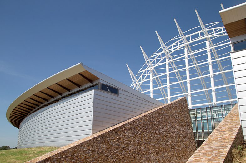 Architectural elements of the AICCM are impressive, but the project has yet to see completion.