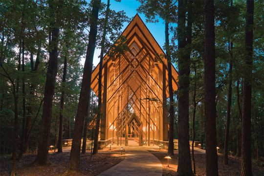 Anthony Chapel at Garvan Woodland Gardens in Hot Springs. Photo courtesy Arkansas Department of Parks and Tourism.