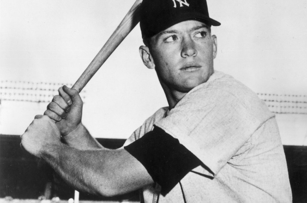 Historical photo of Mickey Mantle.