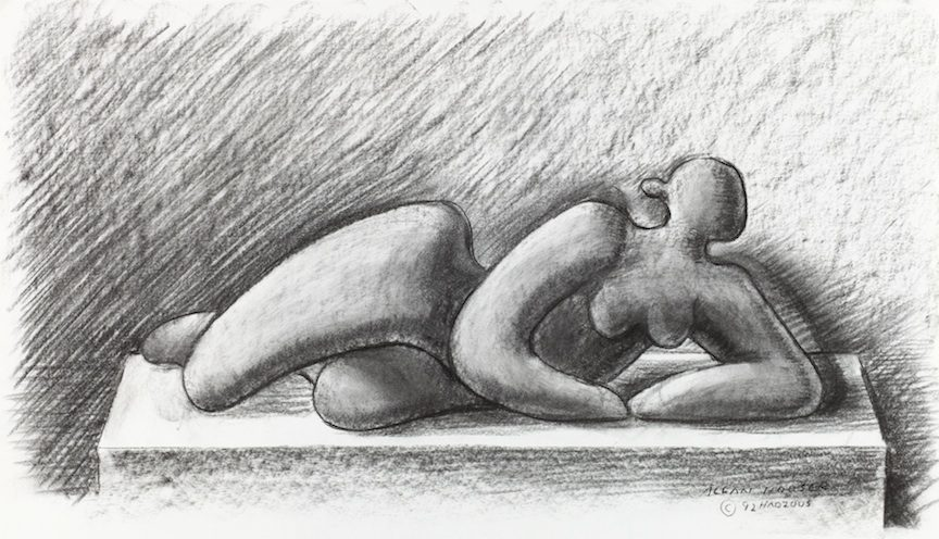 """""""Study for Reclining Figure,"""" 1992, by Allan Houser. Image courtesy of Houser/Haozous Family Limited Partnership."""