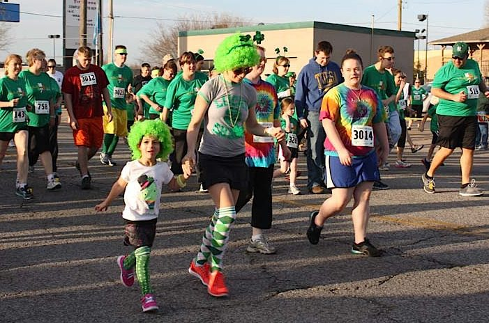 St. Patrick's Day Run in Tulsa. Photo courtesy Special Olympics Oklahoma.