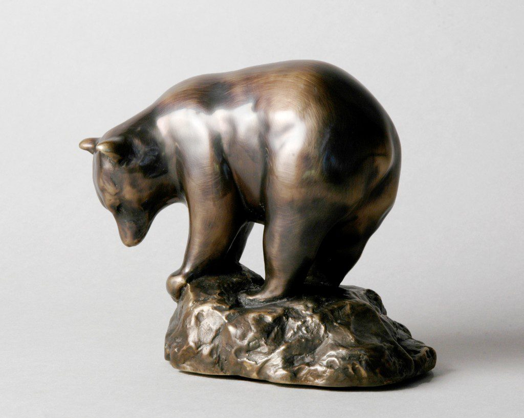 """""""Black Bear Maquette"""" by Ross Matteson. Image courtesy Gilcrease Museum."""