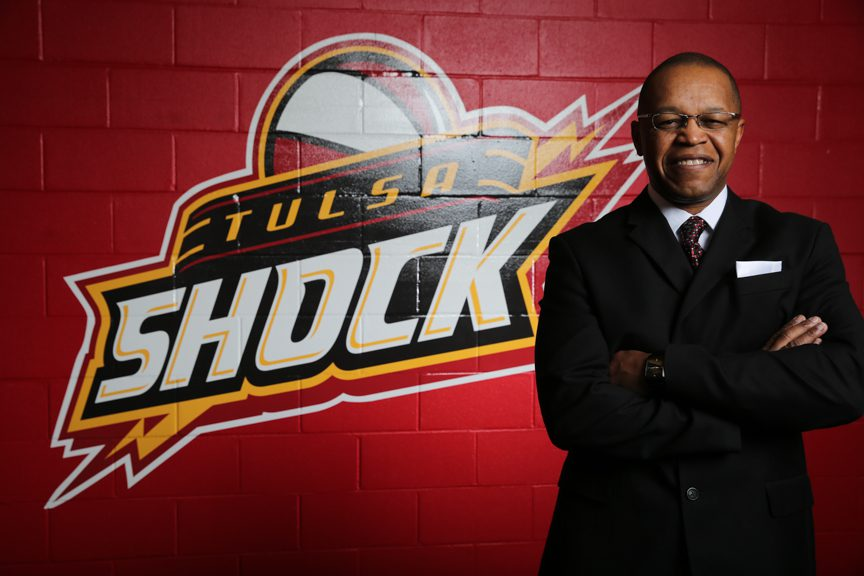 Fred Williams, a WNBA coach for many years, now heads the Tulsa Shock. Photo by Brandon Scott.