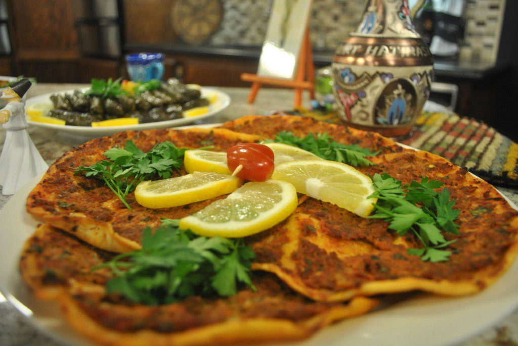 Lahmacun, or Turkish pizza. Photo courtesy Raindrop Turkish House, Oklahoma City.