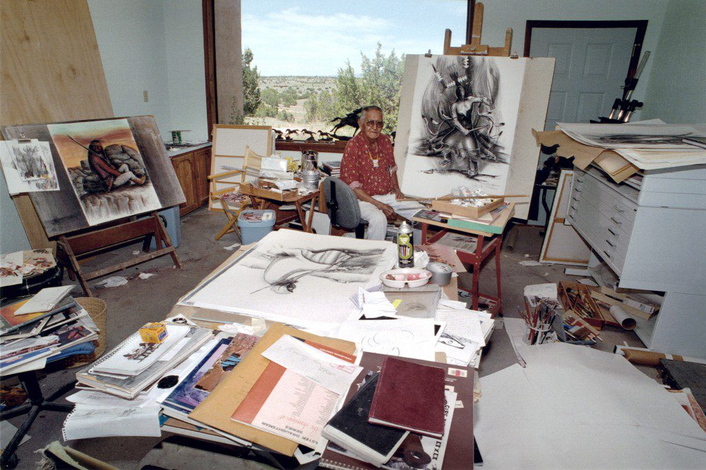 Allan Houser in his studio near Santa Fe, N.M. Photo courtesy Allan Houser Inc.