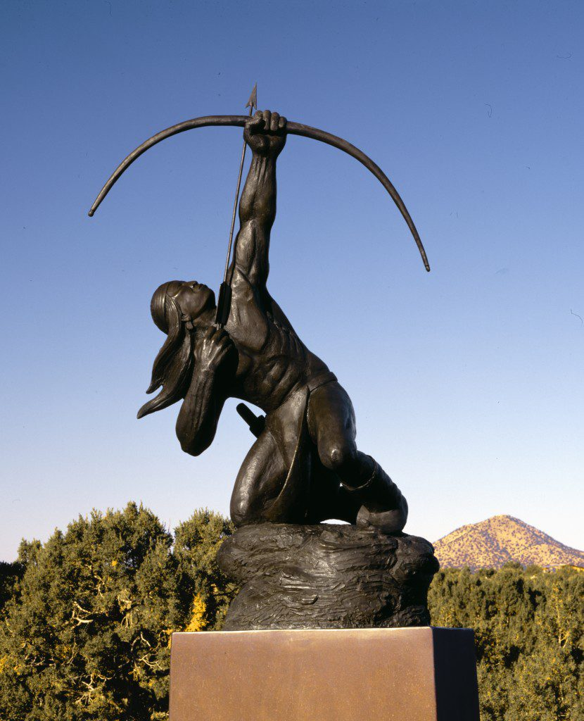 Sacred Rain Arrow, 1988, is one of Allan Houser's most recognizable works. Photo courtesy Allan Houser Inc.