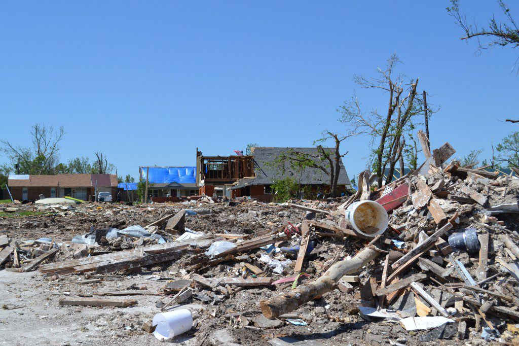 The aftermath of the may 20, 2013, tornado can be seen in this photo taken soon after the storm. Photo by Jessica Kirsh/Shutterstock.com.