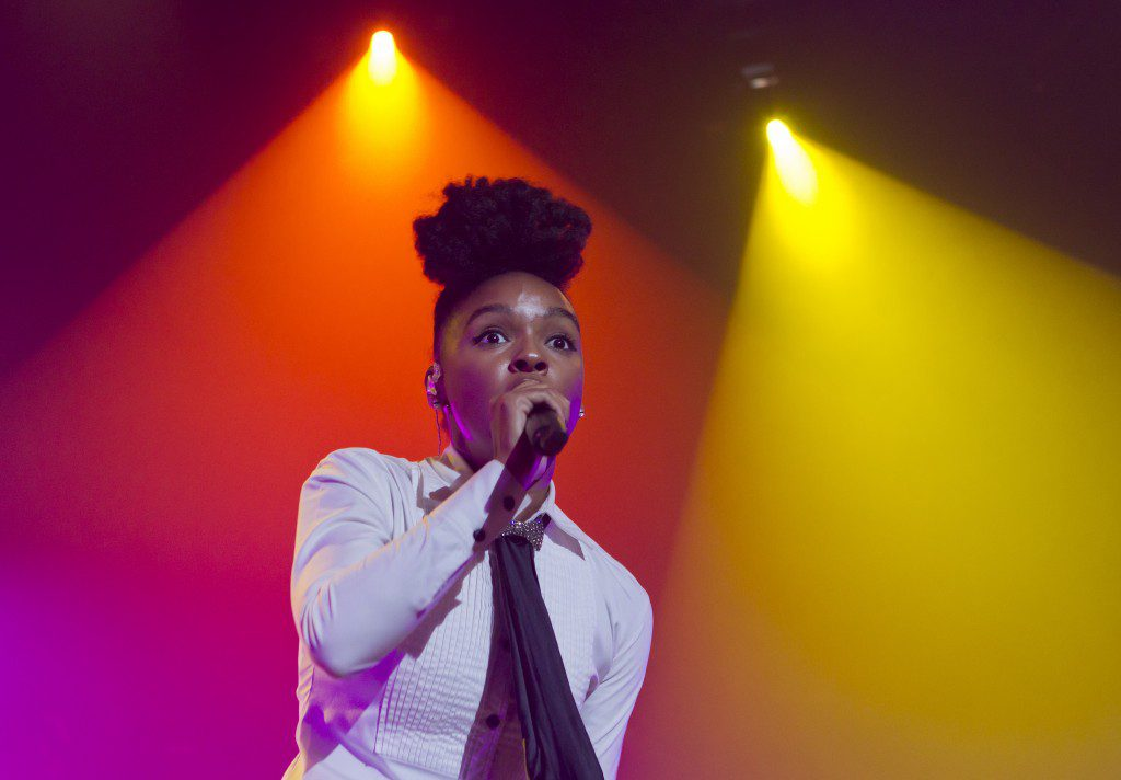 Janelle Monae plays several summer festivals in 2014, including the roots picnic and bonnaroo.  Photo by Aija Lehtonen, www. shutterstock.com.