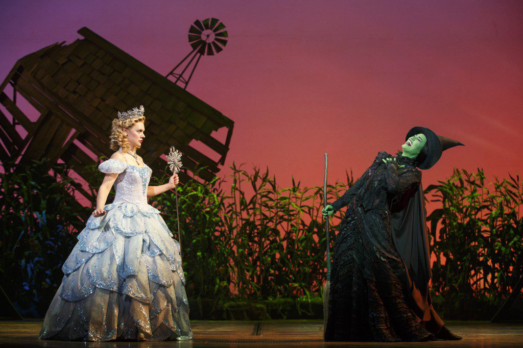 Gina Beck and Alison Luff are the witches of Oz in Wicked, returning to Tulsa this month. Photo by Joan Marcus, courtesy Celebrity Attractions.