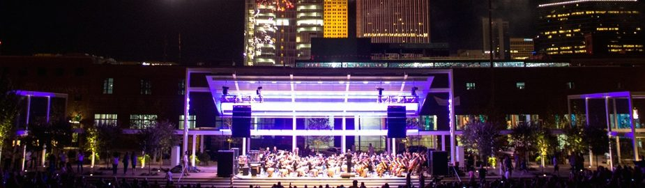 The Tulsa Symphony performs at the Guthrie Green. Photo by Aaron Stephenson, courtesy Guthrie Green.