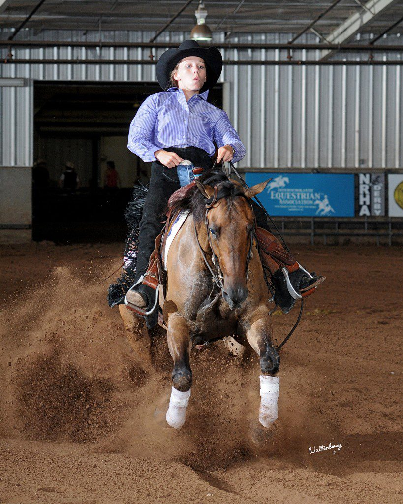 Photo by Waltenberry, courtesy National Reining Horse Association.