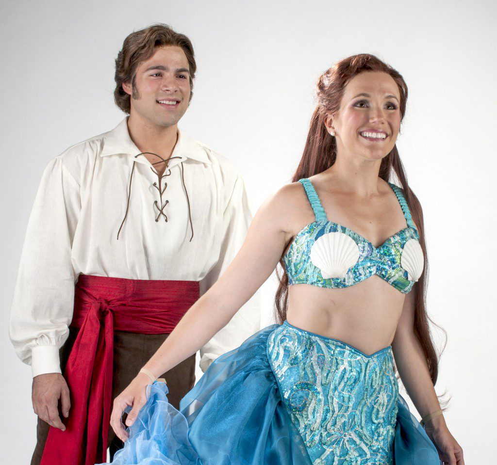 "Storm Lineberger and Amanda Lea LaVergne appear in Lyric Theatre of Oklahoma's production of ""Disney's The LIttle Mermaid."" Photo by K.O. Rinearson, courtesy Lyric Theatre of Oklahoma."