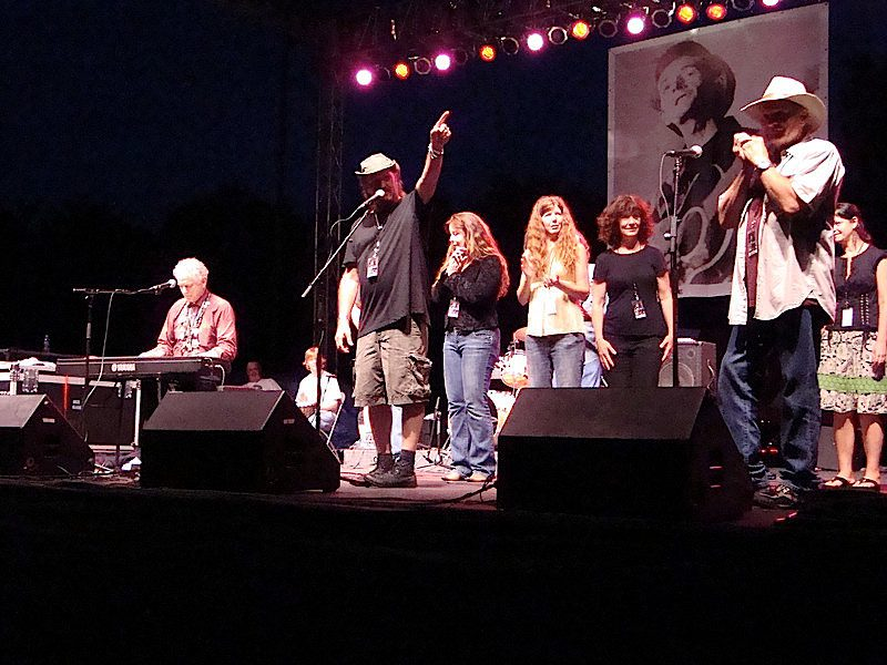 Jimmy LaFave and friends at WoodyFest. Photo courtesy Karen Zundel.
