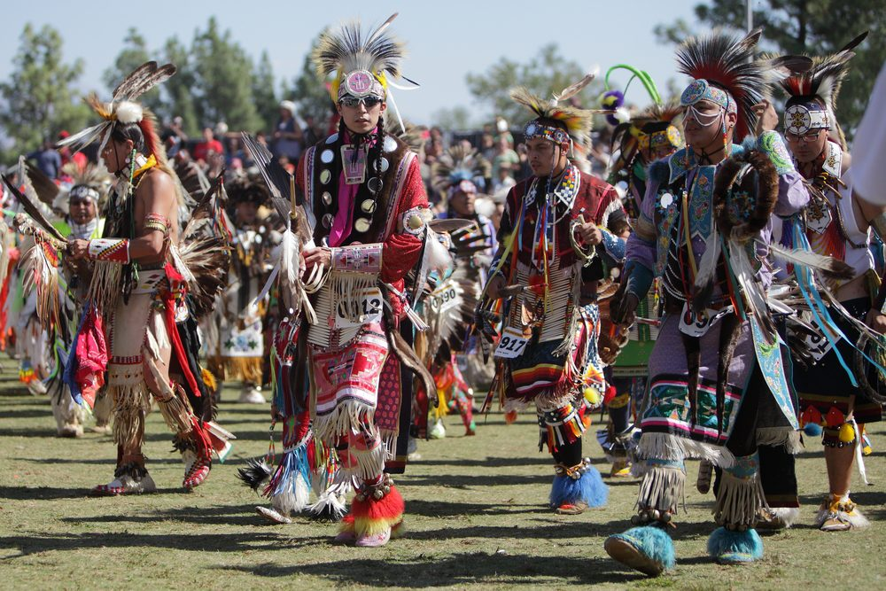 Grass dancers, such as those pictured here at a powwow in San Bernadino, Calif., will compete at the 133rd Otoe-Missouria Summer Encampment this weekend in Red Rock. Digital Media Pro/www.shutterstock.com