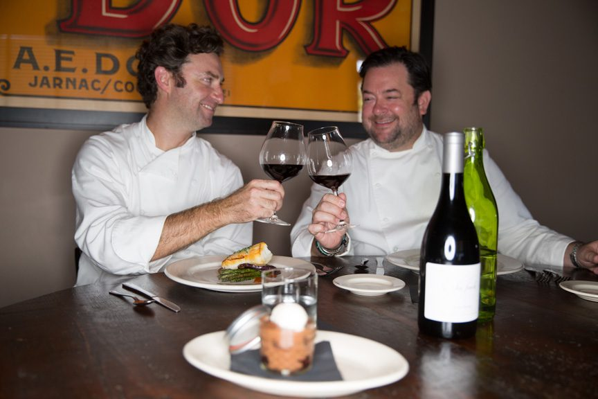 Brothers Brandon Benelli (left) and Matt Kelley make culinary perfection from the simplicity of good flavors and food. Photos by Brandon Scott.