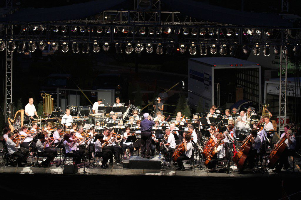 The Oklahoma City Philharmonic in performance at Arts Festival Oklahoma. Courtesy.