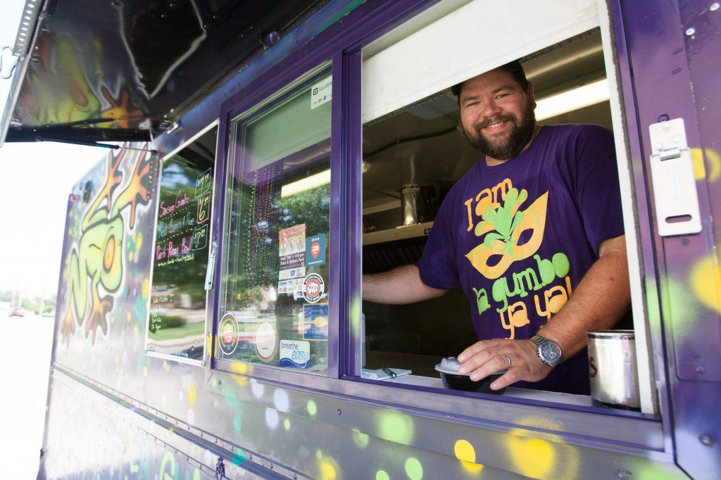 william fontanez brings the french quarter to any street in his food truck, la gumbo ya ya. Photo by Brent Fuchs.