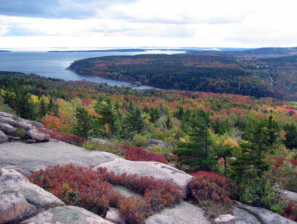 The View from Gorham Mountain in Acadia National Park, Maine.