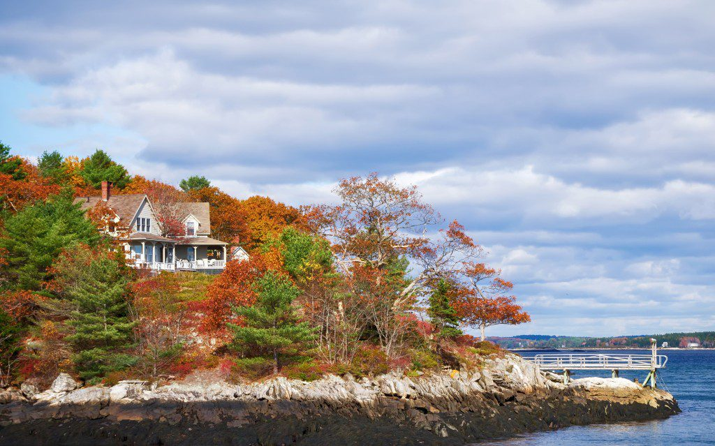Autumn's canopy is spectacular on New England's shoreline.
