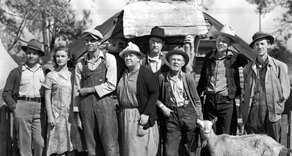 The cast of the film The Grapes of Wrath.