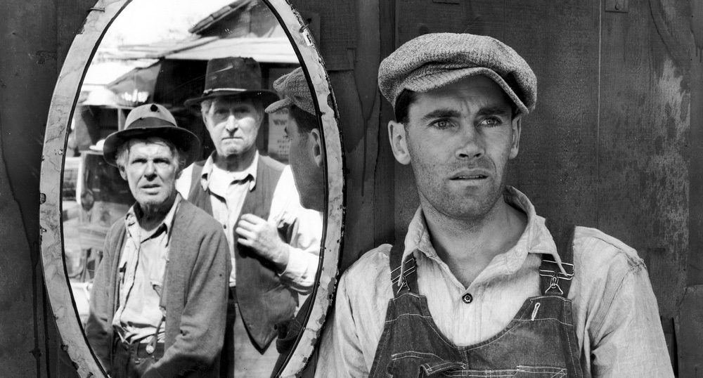 A scene from the film The Grapes of Wrath.