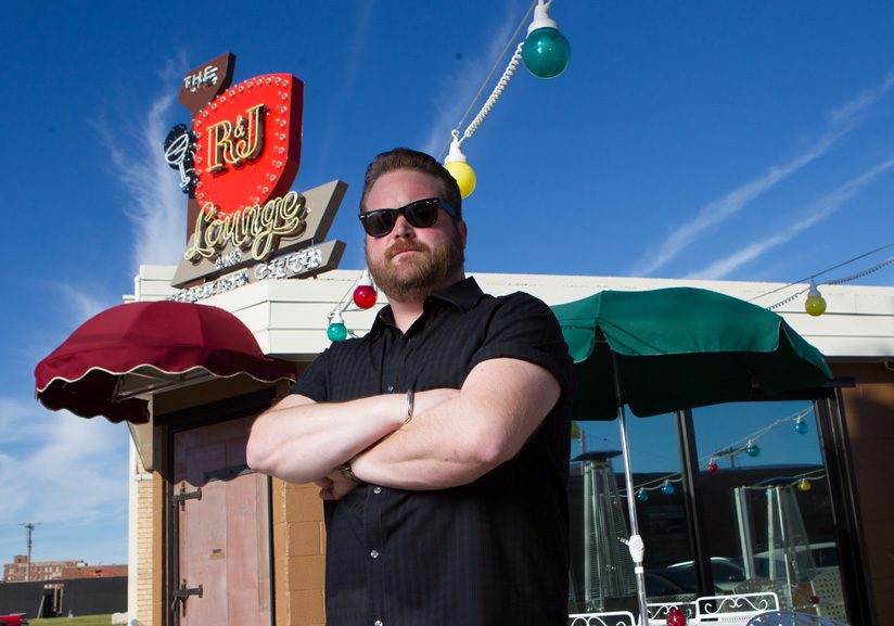 Chef Russ Johnson is half of the team behind R&J Lounge and Supper Club. Photo by Brent Fuchs.