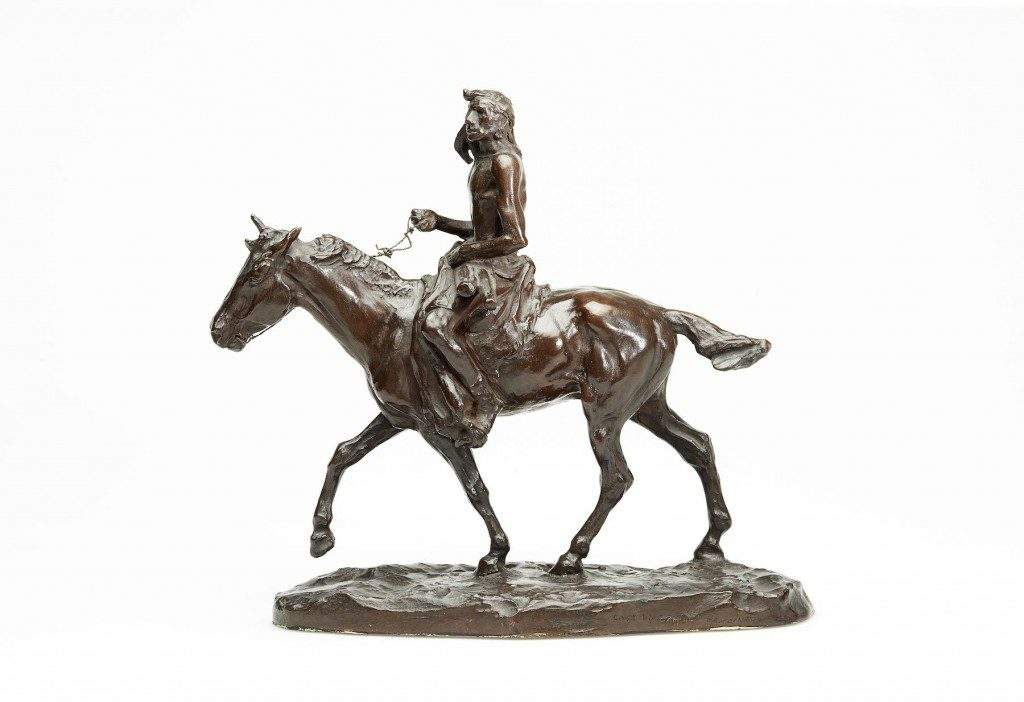 """""""Medicine Whip,"""" bronze, by Charles M. Russell. Image courtesy Gilcrease Museum."""