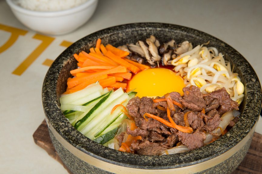 The fresh bibimbap bowl at Gogi Gui Korean Grill. Photo by Brandon Scott.
