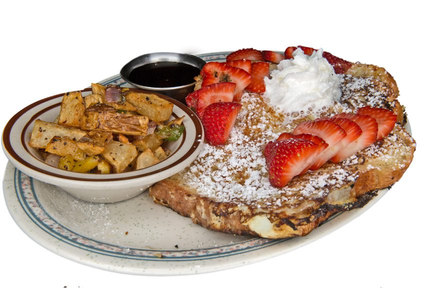 Creme Brulee french toast at Sugar Britches Cafe & Bakery. Photo by Brandon Scott.