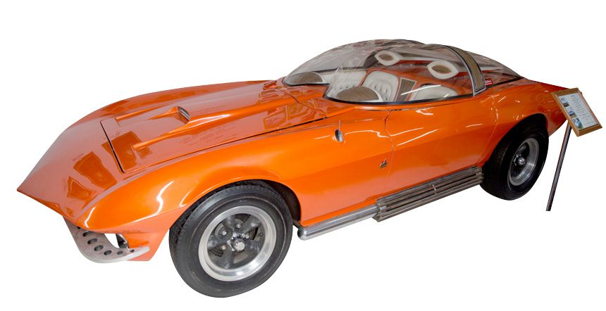 The bubble-topped Cosma Ray is just one of the more than 50 custom vehicles on display at the national rod and custom car hall of fame museum.