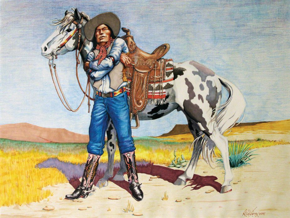 """""""Joe Rider"""" by Robby McMurtry. Courtesy The National Cowboy & Western Heritage Museum"""