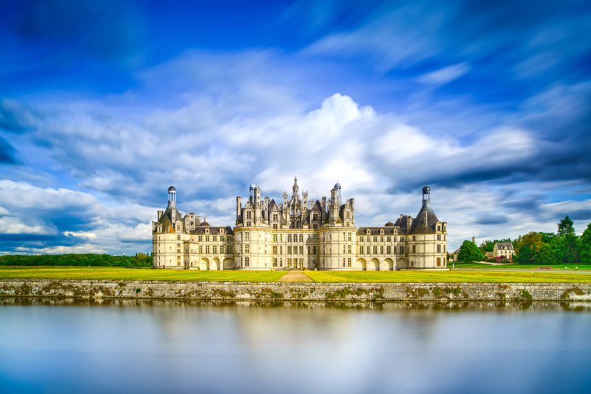 The three-story Castle of Chambord is among the great architectural master works in the Loire Valley.