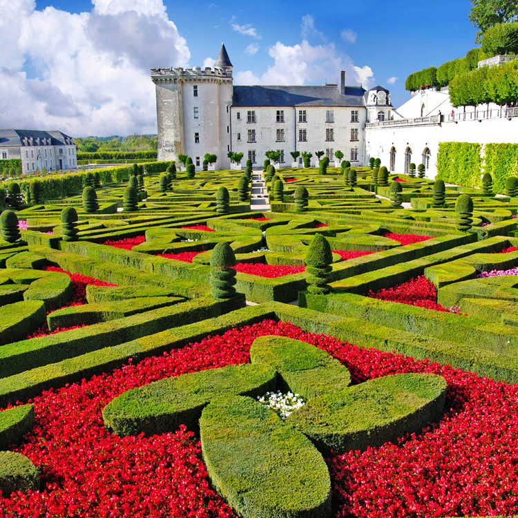 The Gardens at the Chateau in Villandry are famous for their manicured elegance and color.