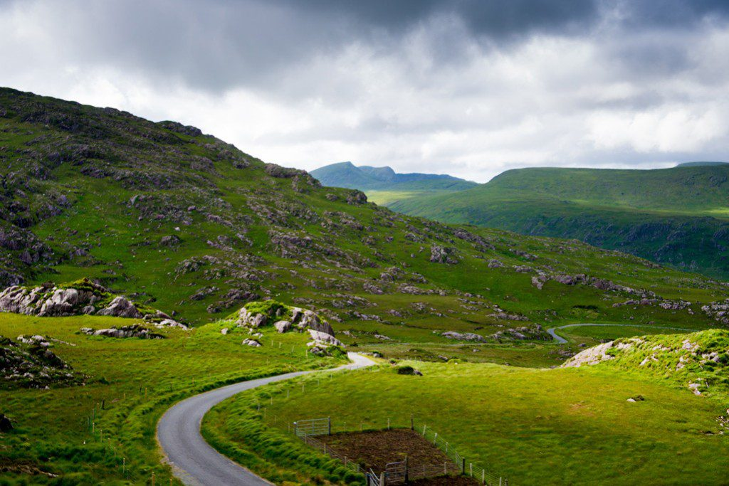 The scenic route of the Ring of Kerry – a 160 kilometer drive. Photo by Nathan Harmon.