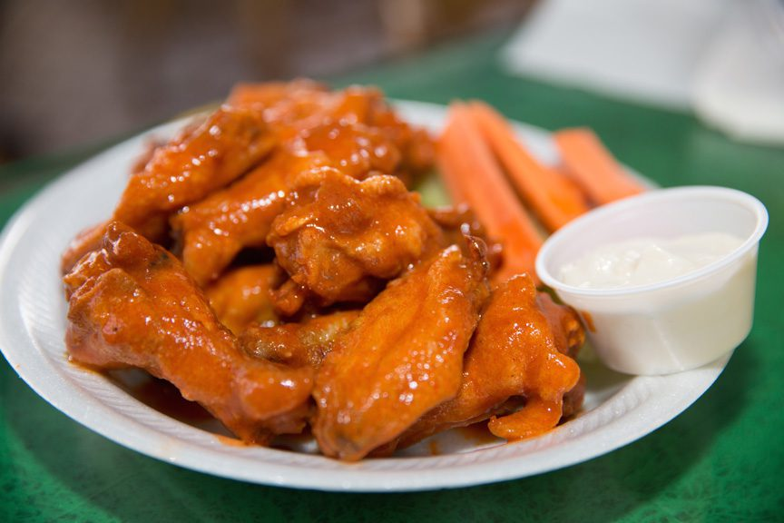 Buffalo wings are done right at the right wing. Photo by Brandon Scott.