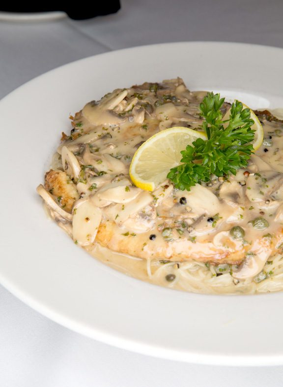 The Swordfish Picatta, a Dalesandro's favorite, is only offered on weekends. Photo by Brandon Scott.