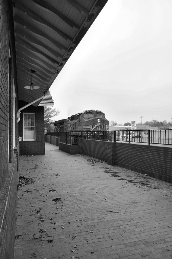 Cloud has photographed the demise and resurrection of several train stations in Oklahoma. Pictured are photos of the Bristow train station before, during and after its renovation. Photos by Cecil Cloud.