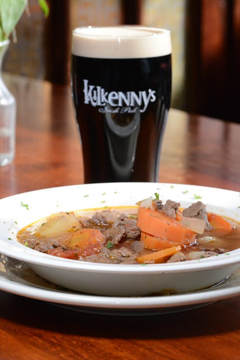 Traditional Irish stew and a pint of Guinness are the perfect St. Patrick's Day pair. Photo by Natalie green.