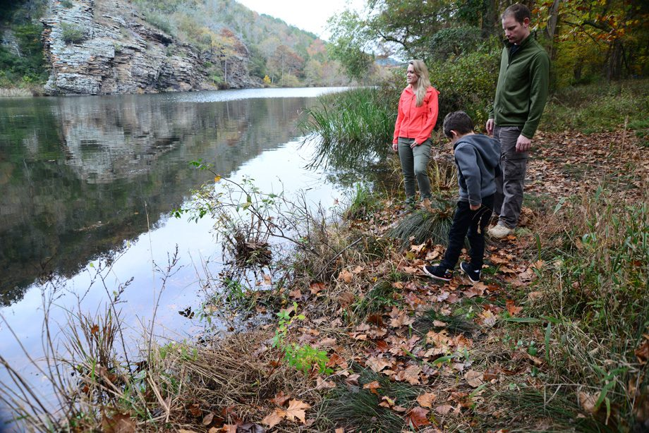 Enjoy the great scenery, while hiking skyline trail at Beavers Bend State Park.