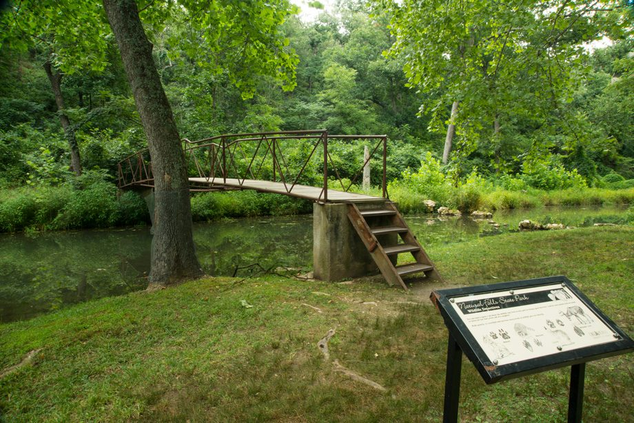 An elevated boardwalk helps protect the natural environment on the  Dripping Springs Trail. Photos courtesy Oklahoma Department of Tourism & Recreation.
