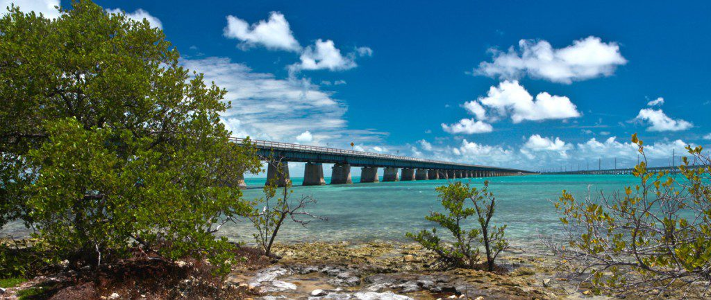 The Seven Mile bridge connects Marathon's Knight's Key to Little Duck Key in the lower keys. It runs parallel to its idle predecessor, which was part of the Florida East Coast Railway's Key West Extension. Fishing underneath and between these structures brings excitement to the surface.