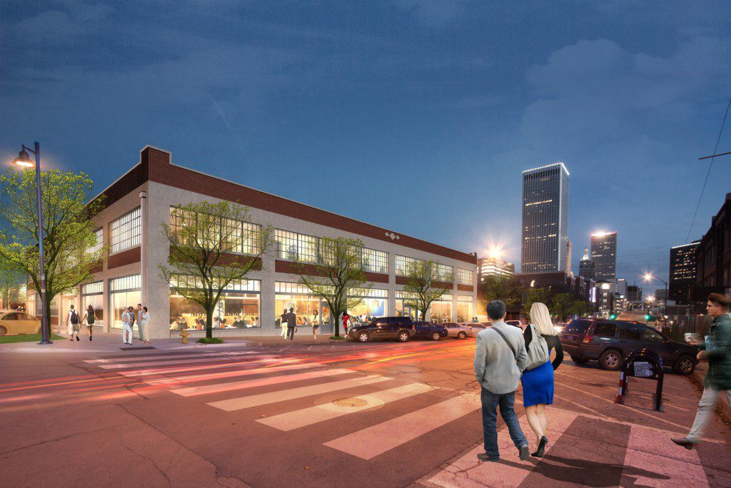 A rendering of the Ford Building's historic renovation.  Photos courtesy Lilly Architects.