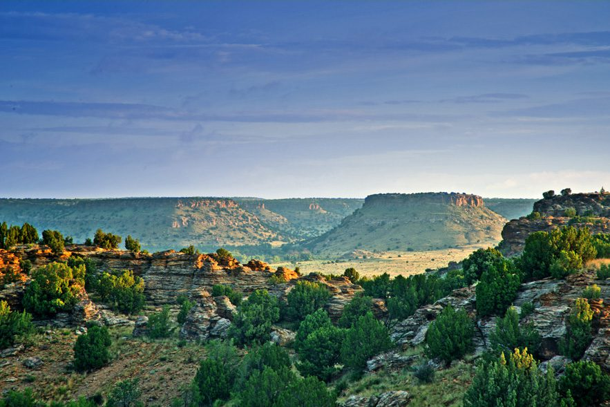Hike to Oklahoma's highest point on this trail at Black Mesa State Park, and enjoy views that look into Oklahoma, Colorado and New Mexico. Photo courtesy Oklahoma department of tourism and recreation.