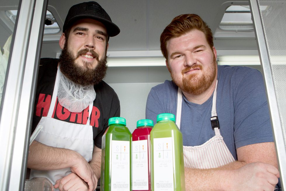 Cody Ward and Chadd Hook, the men behind Super Juice. Photo by Brent Fuchs.