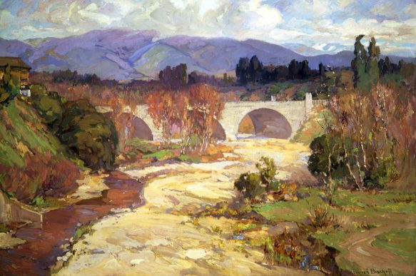 Franz A. Bischoff, Arroyo Seco Bridge, Oil on canvas, 1915, 30 x 40 inches photo courtesy Gilcrease museum.