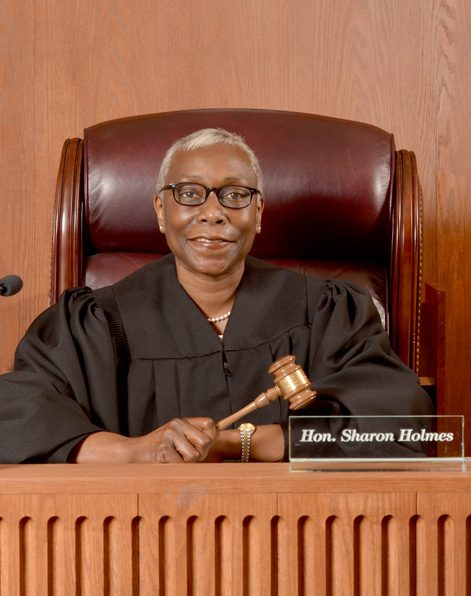 The Hon. Sharon Holmes was sworn in as the first female black judge in Tulsa County. Photo by Dan Morgan.