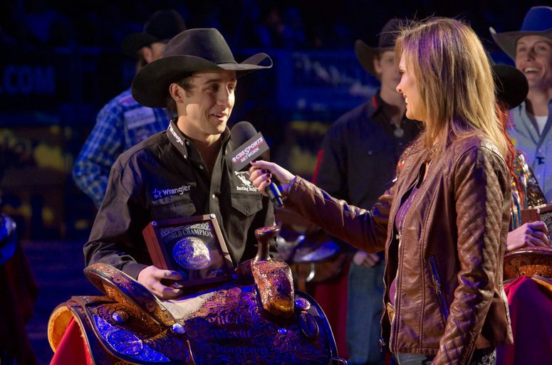 Strong City, Okla., native Sage Kimzey is quickly rising the ranks of pro bull riders. Photos courtesy Professional Cowboys Rodeo Association.