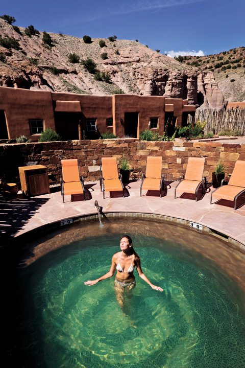 Relax at the peaceful and serene Ojo Caliente Mineral Springs Resort & Spa in New Mexico. Photo by Julien McRoberts.