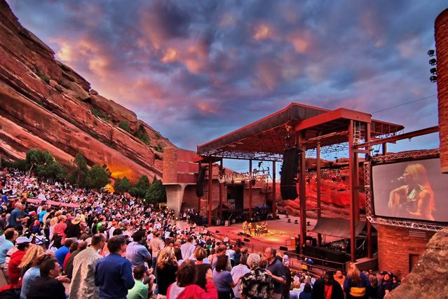 Red rock Amphitheatre in Morrison, Colo., is a trip to another world.  Photo by Stevie Crecelius, courtesy City & county of Denver.