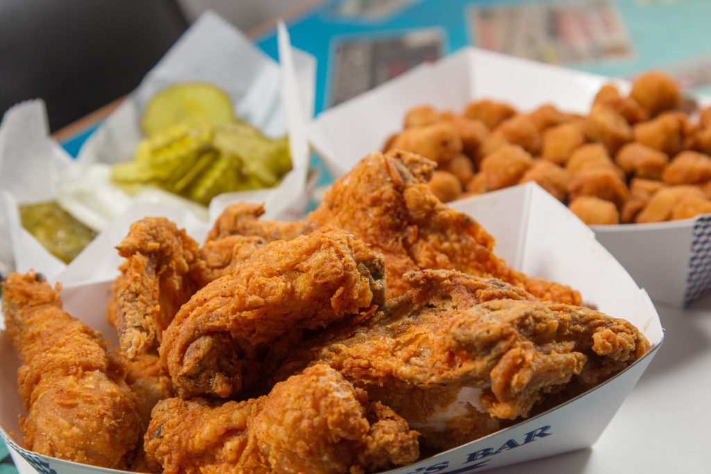 Eischen's is known for its fried chicken, which brings crowds from all over the state to the tiny town of Okarche. Photos by Brent Fuchs.